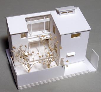 木組みの家の1:100模型
