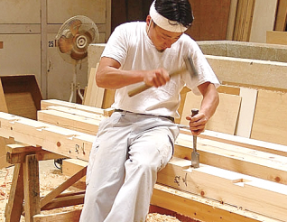木組みの刻み