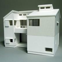 高円寺の家1:50白模型