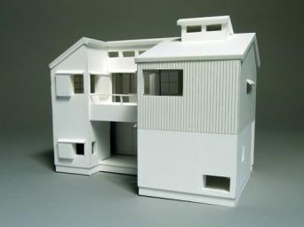 木組みの家「高円寺の家」1:50白模型