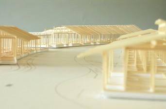 ひとつ屋根の下計画の提案軸組模型2