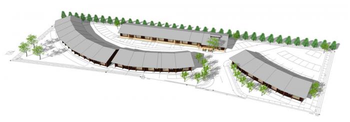 ひとつ屋根の下計画全体配置図