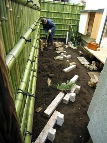 木組みの家「高円寺の家」お庭づくり