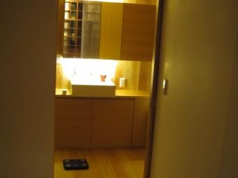 木組みの家「高円寺の家」洗面所
