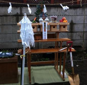 木組みの家「高円寺の家」地鎮祭