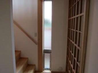 木組みの家「高円寺の家」階段下のあかり