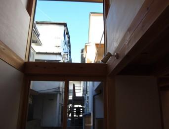木組みの家「高円寺の家」吹抜け西側