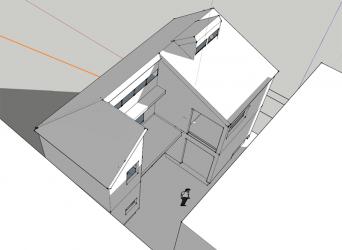 木組みの家「高円寺の家」SketchUp日影検討
