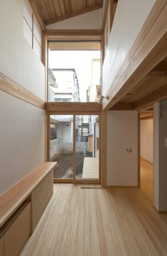 木組みの家「高円寺の家」食事室の吹抜け