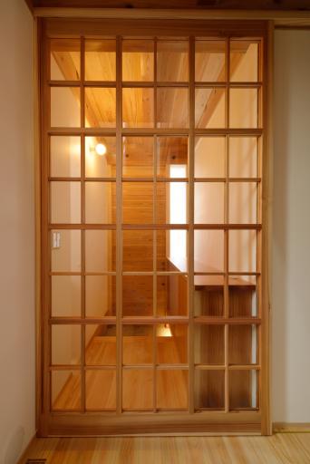 木組みの家「高円寺の家」格子戸