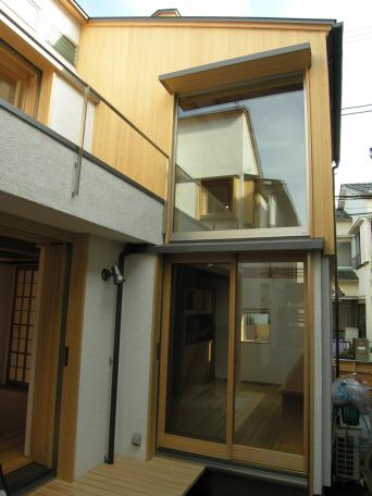 木組みの家「高円寺の家」西側外観