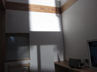 木組みの家「高円寺の家」食事室の漆喰壁