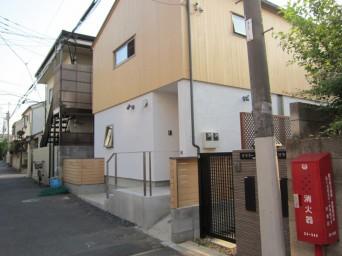 木組みの家「高円寺の家」道路からみた外観