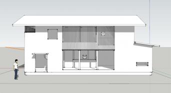 木組みの家「吉祥寺の家3」SketchUp南外観