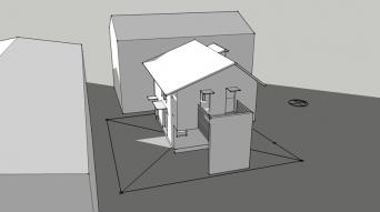 木組みの家「八王子の家」SketchUp冬至