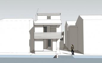 木組みの家「登戸の家」SketchUp外観130702