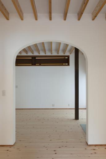 南房総の古民家再生竣工「ダイニング開口部」