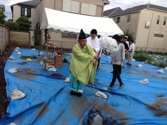 木組みの家「吉祥寺の家3」地鎮祭
