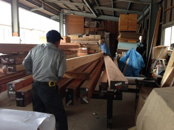 木組みの家「我孫子の家2」1材木検査131016