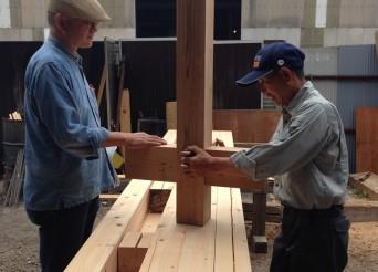 木組みの家「我孫子の家2」2材木検査131016