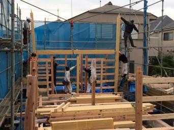 木組みの家「吉祥寺の家3」上棟3