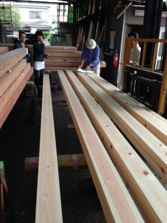 木組みの家「登戸の家」材木検査