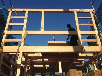 木組みの家「登戸の家」上棟1