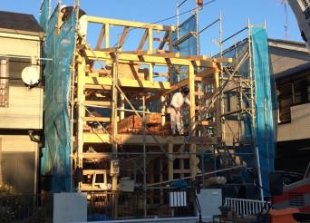 木組みの家「登戸の家」上棟2