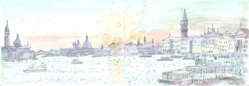 ベニス,夕陽,イタリア,旅行