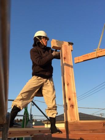 木組みの家「我孫子の家2」建方2