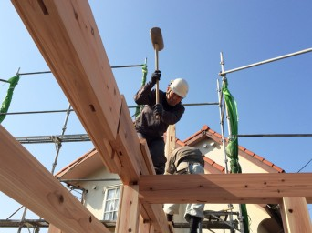 木組みの家「我孫子の家2」建方