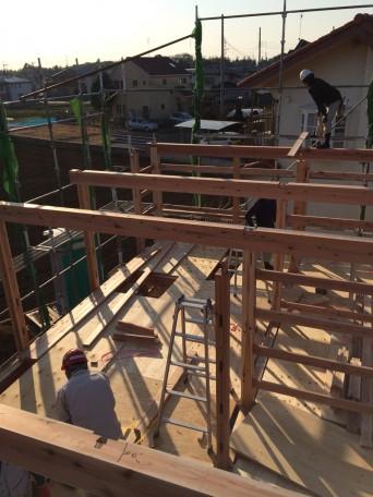 木組みの家「我孫子の家2」建方5
