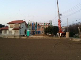 木組みの家「我孫子の家2」建方3
