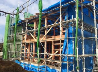 140127abiko2木組みの家「我孫子の家2」構造見学会外観