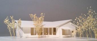 木組みの家「佐倉の平屋」模型1:100
