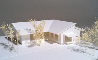 木組みの家「佐倉の平屋」模型1:100俯瞰