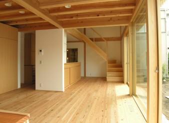 木組みの家「吉祥寺の家3」居間140409
