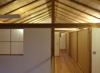 木組みの家「吉祥寺の家3」二階夜