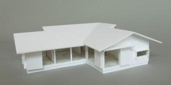 木組みの家「佐倉の平屋」模型1