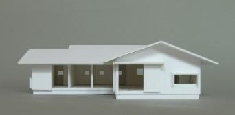 木組みの家「佐倉の平屋」模型2