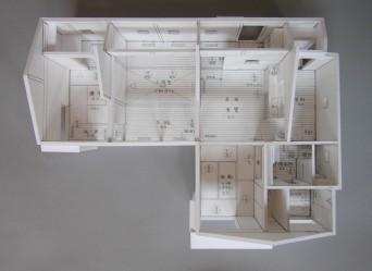 木組みの家「佐倉の平屋」模型