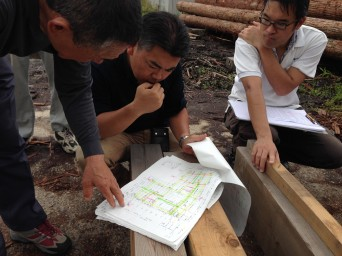 「佐倉の平屋」材木検査2