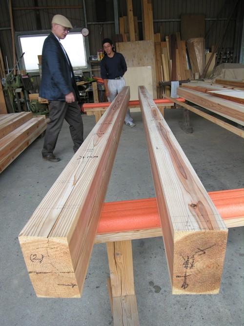 木組みの家「佐倉の平屋」下小屋見学