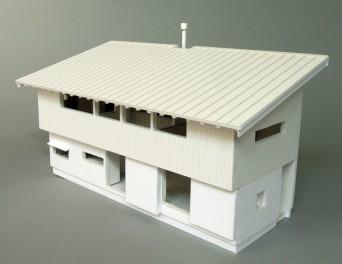 木組みの家「松本城の見える家」模型俯瞰