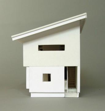 木組みの家「松本城の見える家」模型東