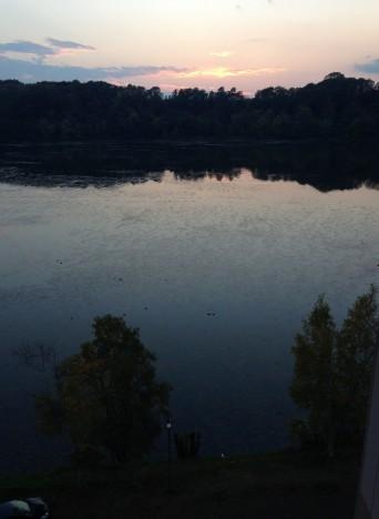 網走湖の朝