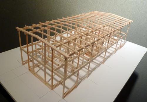 「木組のデザイン」ゼミナール模型