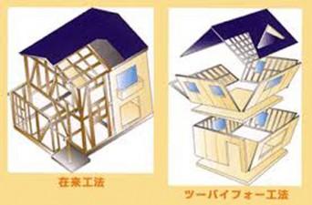 在来工法と2×4工法