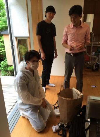 木組みの家「高円寺の家」床下調査の様子