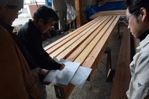 木組の家「阿佐ヶ谷の家」材木検査打ち合わせ